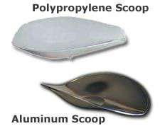 Aluminum/SS/poly Ohaus Scoop Products